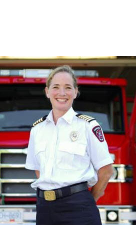 Photo of Nanaimo fire chief Karen Fry, cropped for grid