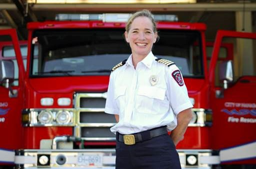 Photo of Nanaimo fire chief Karen Fry