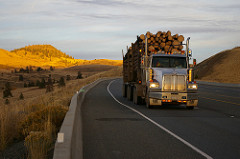 Loaded Logging Truck on Highway Near Cache Creek, photo by BC Ministry of Transportation on Flickr