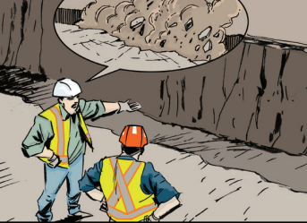 Image from WorkSafeBC's Excavation Safety booklet