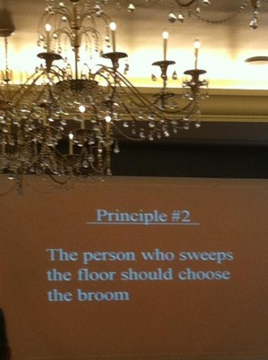 Howard Behar's presentation slide at the Leading Performance Conference in Vancouver Oct. 27