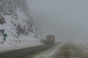 Snow plow in the BC mountains. Photo credit: Rob Trent on Flickr