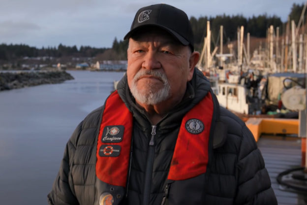 Photo of Chris Cook, a fisherman featured in the film