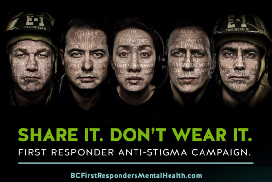 Poster for the first responder anti-stigma campaign