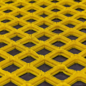 Photo of yellow nonslip rubber safety matting