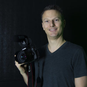Photo of Ryan Radford, teacher of video production and graphic design at Walnut Grove Secondary School
