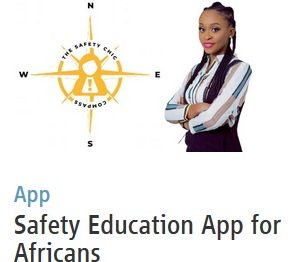 Screenshot of the film festival entry image for Safety Education App for Africans